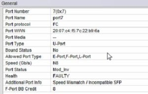 Info Speed Mismatch / Incompatible SFP